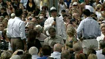 Romney and Ryan then took questions from some crowd members.