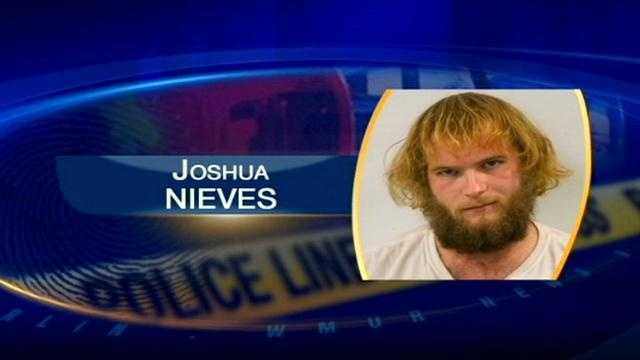 "Joshua Nieves was arrested last week, and police said he had a loaded machine gun and ammunition, and said he would ""shoot before going back to jail."""