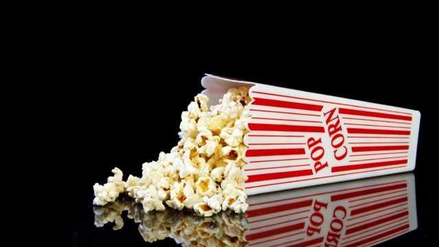 spilled box of movie popcorn