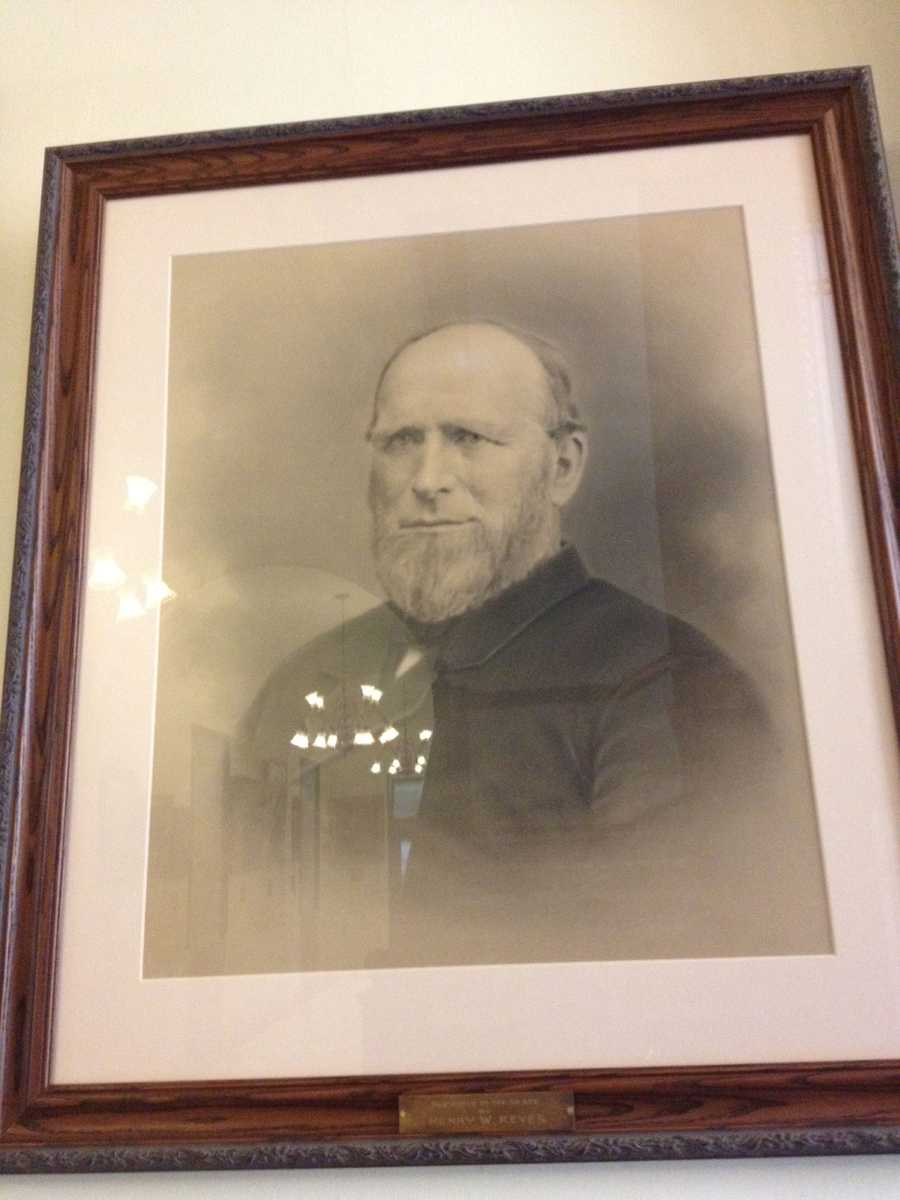 This is not Henry W. Keyes. But, who is it? Officials removed this portrait for Keyes in the New Hampshire State House on Wednesday, Aug. 22, 2012.