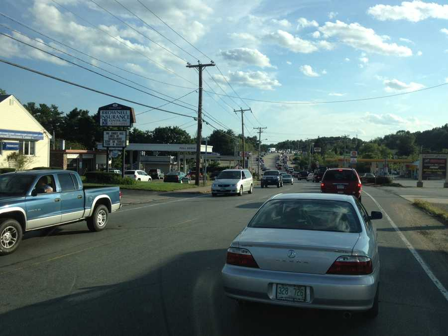 Traffic is snarled in Derry off I-93.