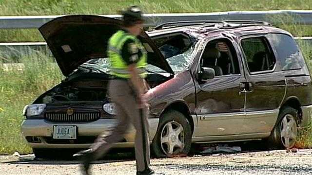 A woman is dead after a crash on Interstate 293 in Manchester.