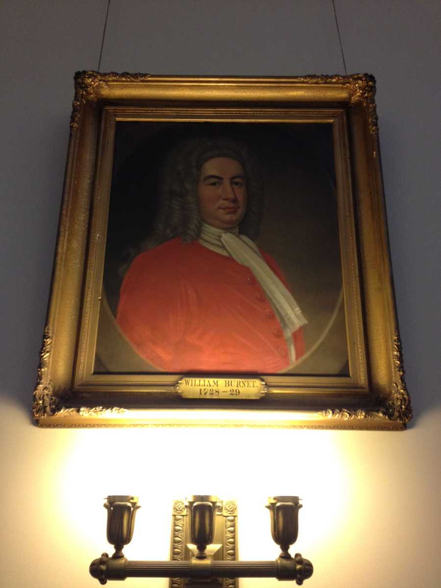 And before long, Melinda snapped a photo of every portrait in sight! Here's William Burnet, Governor of the Province of New Hampshire (1728-1729).