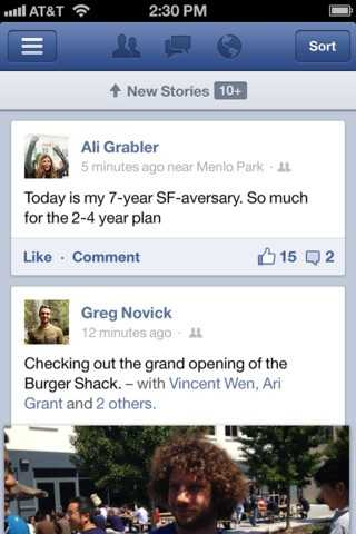 Facebook says scrolling through the newsfeed is now much faster.