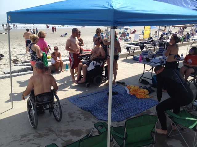 The Wounded Warriors visited Hampton Beach on Friday. News 9's Josh Mcelveen was there.