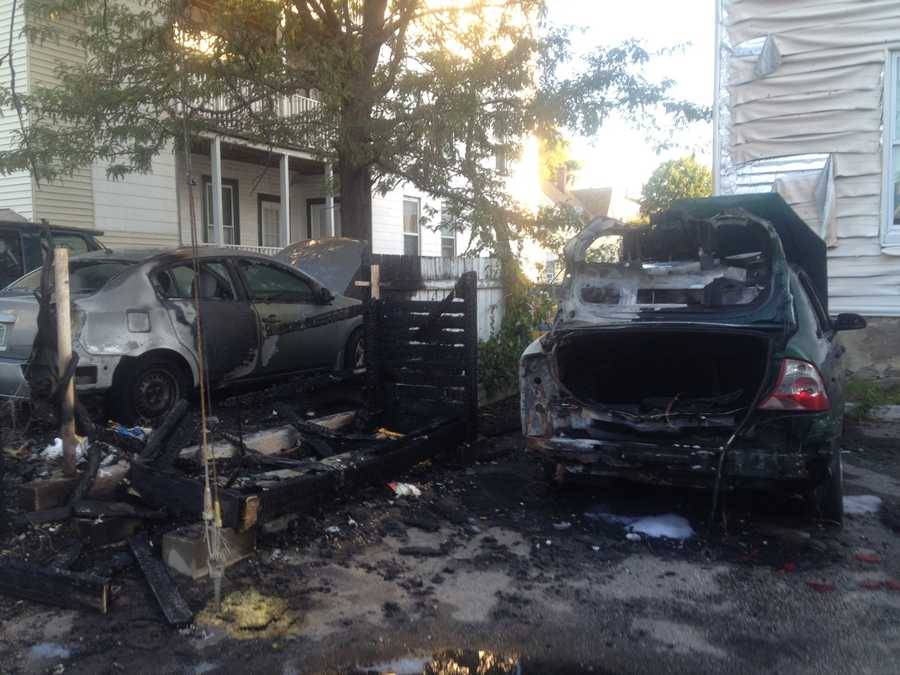 The Manchester Fire Department said five fires were set early Monday morning in alley south of Merrimack Street.