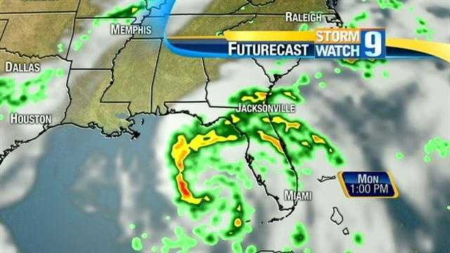 See the latest predictions as Tropical Storm Isaac threatens the Gulf Coast.