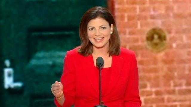 Sen. Kelly Ayotte gave a primetime speech during Tuesday night's Republican National Convention in Tampa.