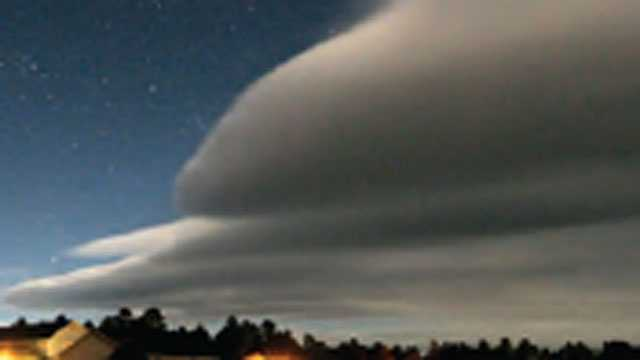 A wave cloud is formed by strong horizontal winds over uneven terrain, which could include mountainous areas or a region with valleys.Information from the NOAA and NSIDC was used in this slideshow.
