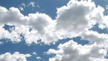 They are some of the most majestic things in nature: clouds.