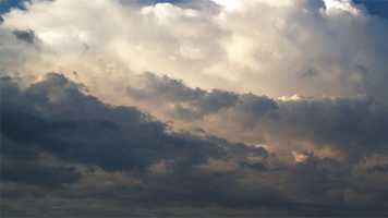 Often, the clouds that produce precipitation are nimbus clouds. They generally float between 7,000 and 15,000 feet above the ground.