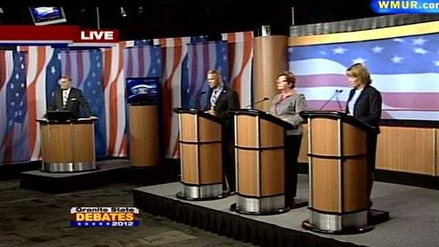 All three candidates also delivered closing statements. To read a debate recap, including links to each question, click here.