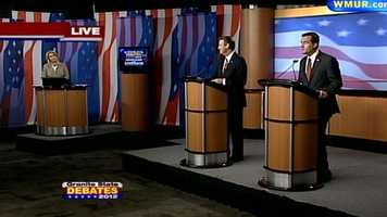 Ovide Lamontagne and Kevin Smith deliver their opening statements at the Republican Governor's debate.