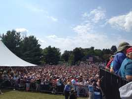 Hundreds of people packed the event to see President Barack Obama, among others.