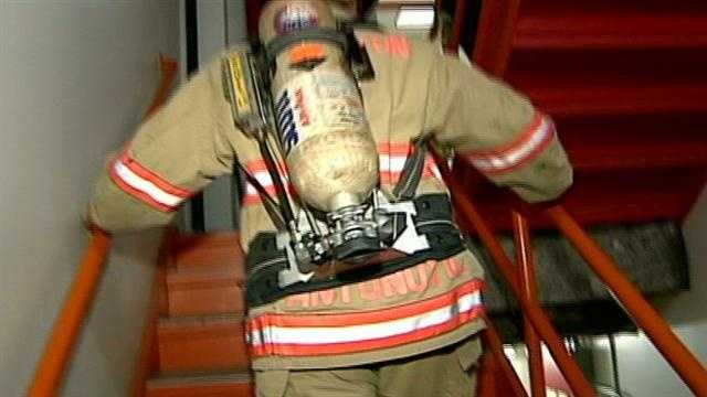 Firefighters across the state climbed stairs Sunday, honoring those fallen on 9/11.