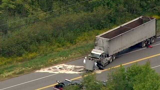 A woman was killed in a crash on Route 111 in Salem on Monday.