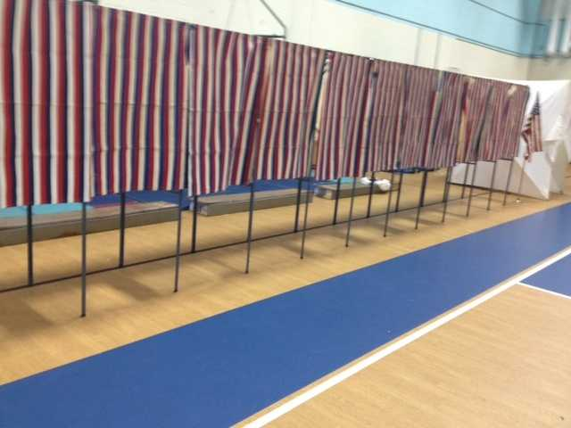 Voters were out early to vote in the primary elections in New Hampshire on Tuesday, Sept. 11.