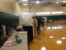 Voters also hit the polls early in Raymond.