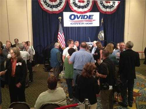 Ovide Lamontagne's communications director said his staff felt good about the numbers at around 8:15 p.m.