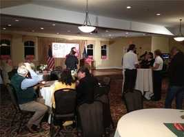 Supporters begin to pack Kevin Smith's headquarters.
