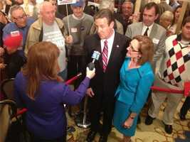 Ovide Lamontagne and his wife Bettie tell us live on WMUR that this second time he's won the Republican nomination for governor (1996 was first), he has the life experience needed. He said the race starts in the morning.