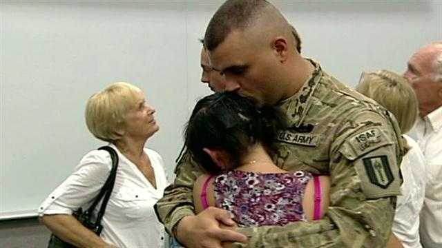 Some National Guard troops return home from Afghanistan.