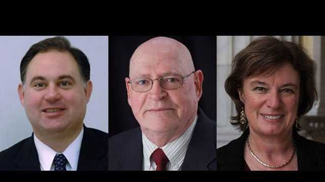 Frank Guinta (R), Brendan Kelly (L) and Carol Shea-Porter (D) are vying for the seat in the first Congressional district of New Hampshire.1st CD: Bios | Fun Facts | On The Issues<<  Back to elections homepage