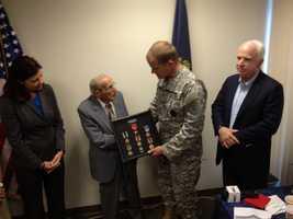 Like McCain, Hebert was a prisoner-of-war duing World War II.