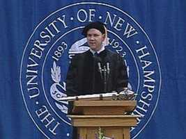 Another UNH alum! Mike O' Malley currently plays Burt Hummel, the father of Kurt, on Glee, and writes for the Showtime drama, Shameless.