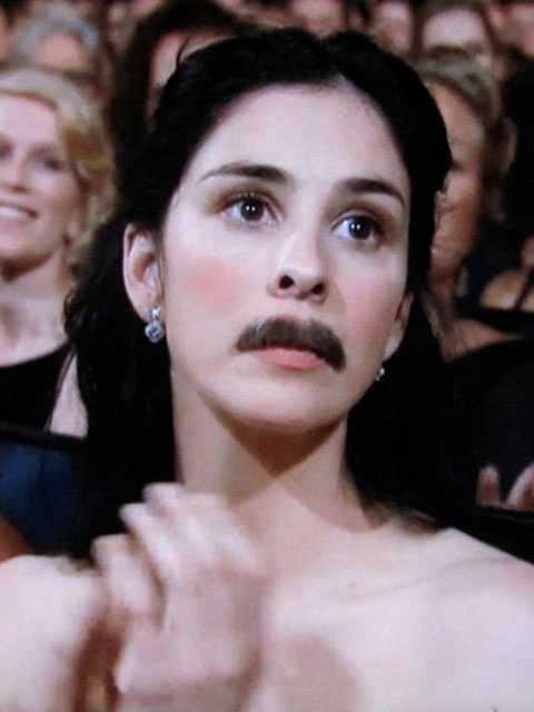 Silverman can always catch an audience by surprise, as she did by donning a faux mustache at the 2009 Emmy's awards, where she was nominated for Best Actress.