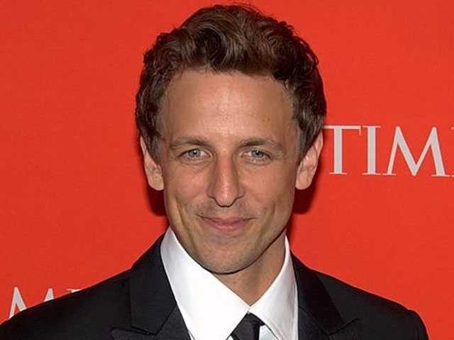 """By now, the Weekend update is synonymous with the name Seth Meyers, who now anchors the news parody skit solo on SNL. But the Manchester High School alum has also showed his writing talents as co-head writer for several seasons of SNL, including 2008's """"Sarah Palin""""skits starring Tina Fey."""