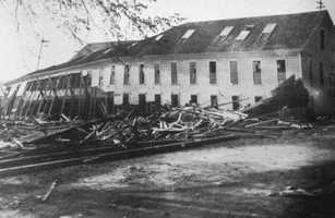 The hurricane caused the most destruction in Rhode Island. Around 100 people from R.I. died.