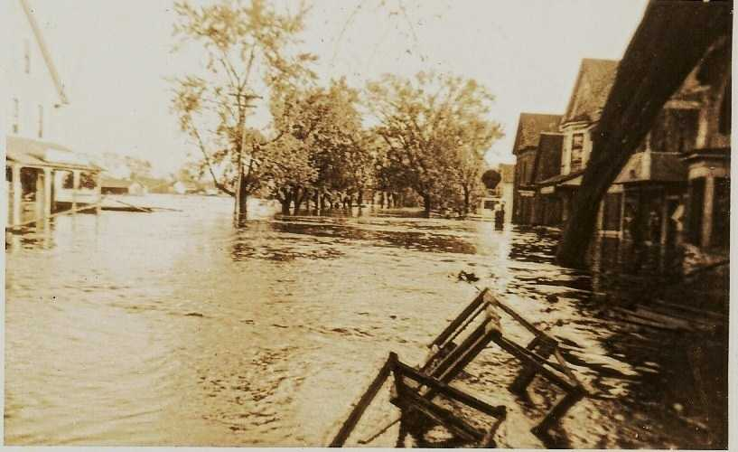 Flooding was widespread in Concord after the storm.