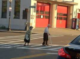 True or False? Pedestrians in crosswalks and at intersections have the right-of-way over all vehicles.