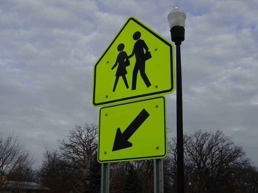 True. Pedestrians in a crosswalk always have the right-of-way.