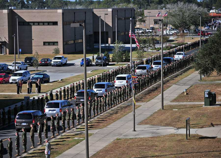 Drivers must yield to complete funeral processions, letting all cars with flashing headlights to pass by as a group.