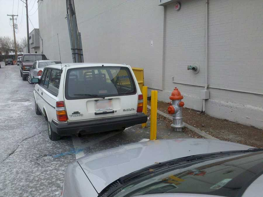 Drivers cannot park within 15 feet of a fire hydrant.
