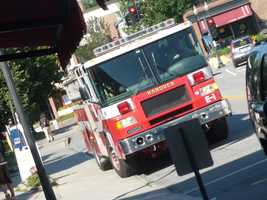 Fill in the blank:Fire engines responding to an emergency should not be followed closer than _______ feet.