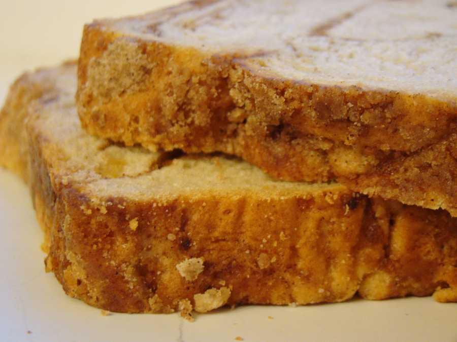 Apple-cinnamon bread.