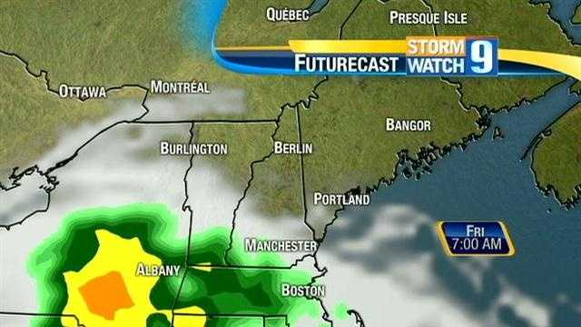 Steady rain is expected to fall most of the day Friday.