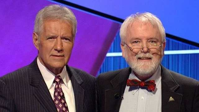 Alex Trebek and Brendan DuBois