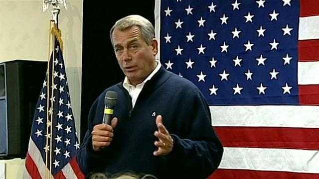 Boehner offers support for Romney