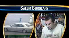 Picture of suspect and suspected getaway car in Salem home burglaries