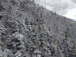 What is that white stuff? Snow? Already?!? Yes, snow fell in the mountains of northern New Hampshire Thursday night.The next several photos show the snow at Cannon Mountain...