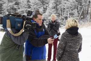 News 9's Nick Spinetto on Cannon Mountain.