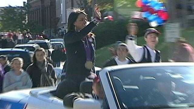 Paralympian honored with a parade.