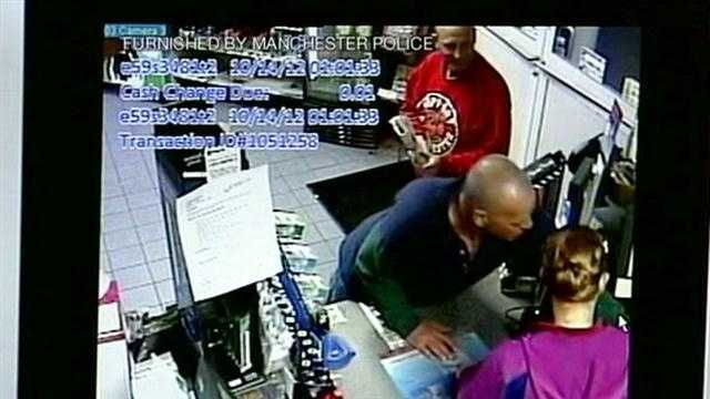 Surveillance video of robbery at Mr. Mike's convenience store in Manchester