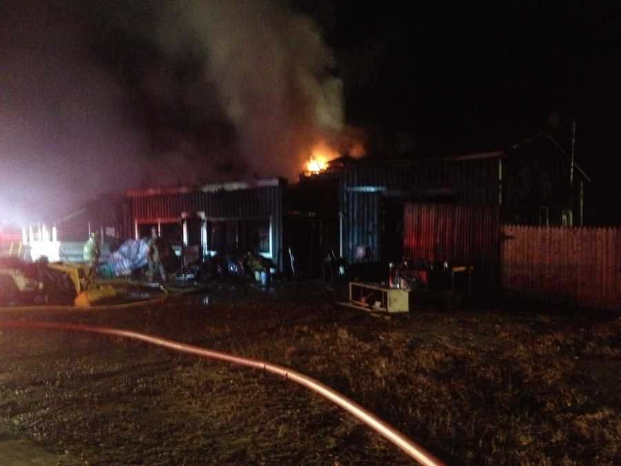 It took dozens of firefighters to get the flames under control, and crews were still mopping up hot spots several hours later.