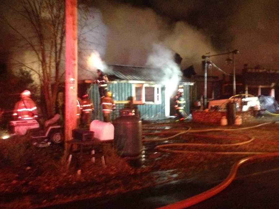The person inside the house made the call to 911 after realizing the house was on fire.