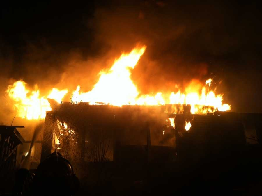 An early-morning fire swept through a New Durham home Wednesday morning.